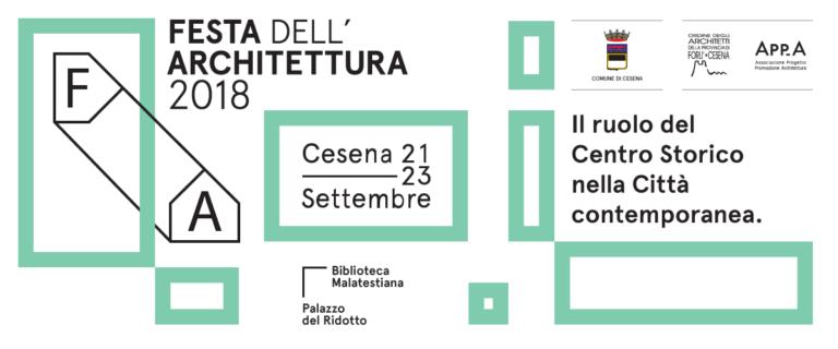 Festa dell'Architettura Cesena 2018